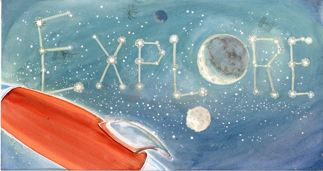 Illustration Friday: Explore