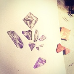 "Copperplate ""gemstone"" process shot."